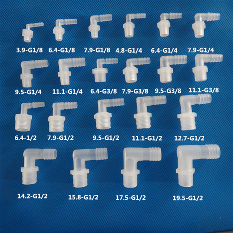 uxcell Quick Connector G1//2 Female Thread to 3//8 Tube Straight Connect Fittings for Water Purifier 41mm White 5Pcs
