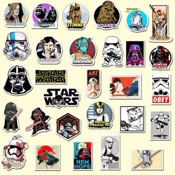 50pcs/set Star Wars Fun Stickers Laptop Guitar Skateboard Suitcase Graffiti Various Creative Decoration Children Gift