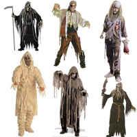 Herren Zombie Sailor Halloween Phantasie Kleid Cosplay Kostüm Toten Navy Junge Horror Outfits Scary Party Horrible Leiche Tragen