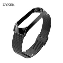 Metal Wrist Strap for Xiaomi Mi Band 3 Bracelet Stainless Steel band Wristband Replace Accessories For