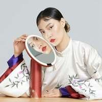 AMIRO Yuemu Magnifier 8 Inch Makeup Mirror Sunlight LED Light On/Off Smart Sensor Forbidden City Joint Gift Box Version Mirrors