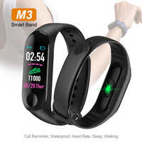 Colorful M3 Smart Bracelet Band Fitness Tracker Heart Rate Blood Pressure Messages Reminder Sport Smart Wristband