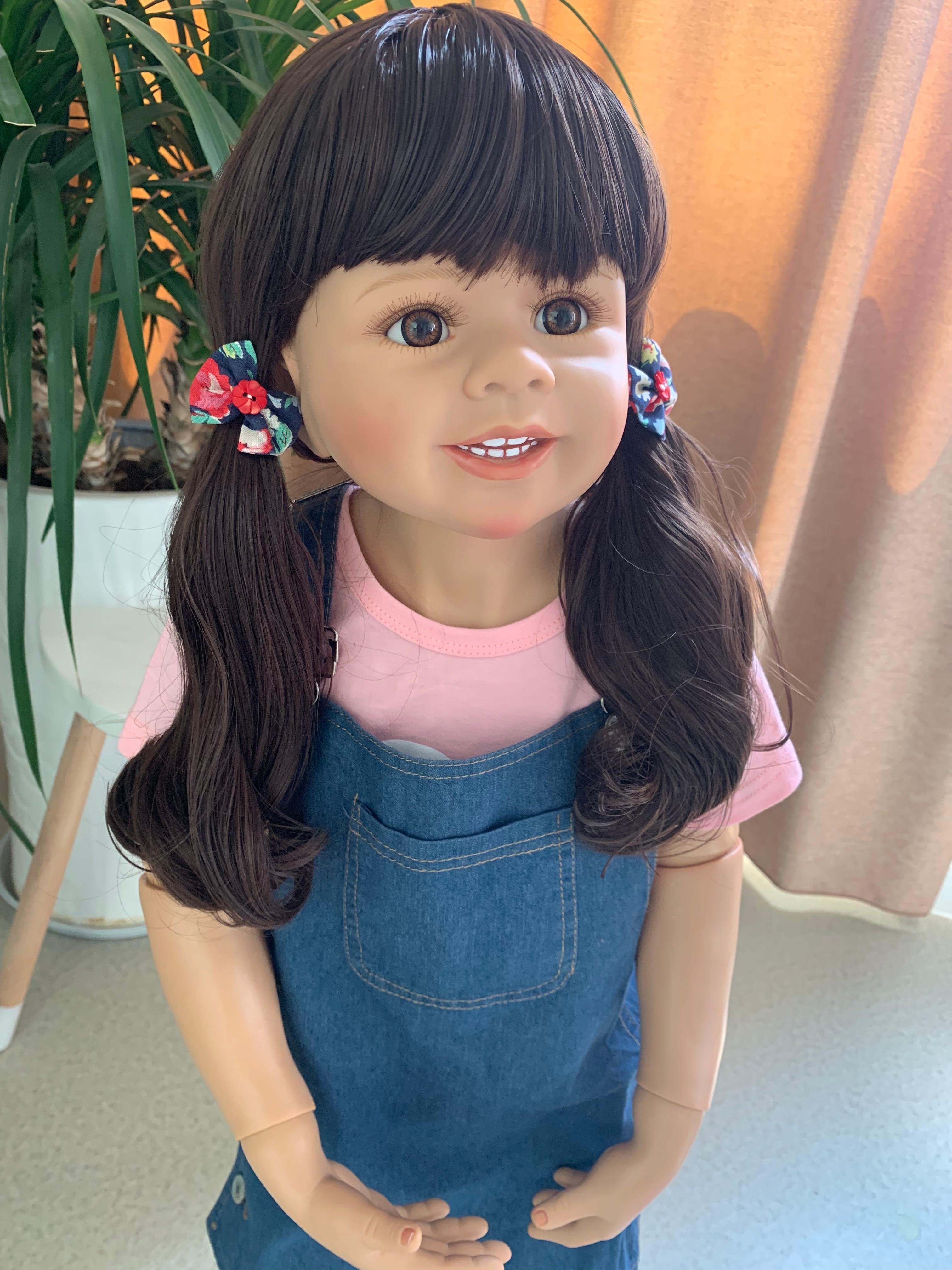 Huge doll 98CM Original Masterpiece big toddler girl doll high quality hard vinyl foll body ball