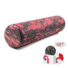 60/45cm yoga bloco pilates rolo de espuma gatilho ponto massagem rolo tecido muscular para fitness gym yoga pilates esportes