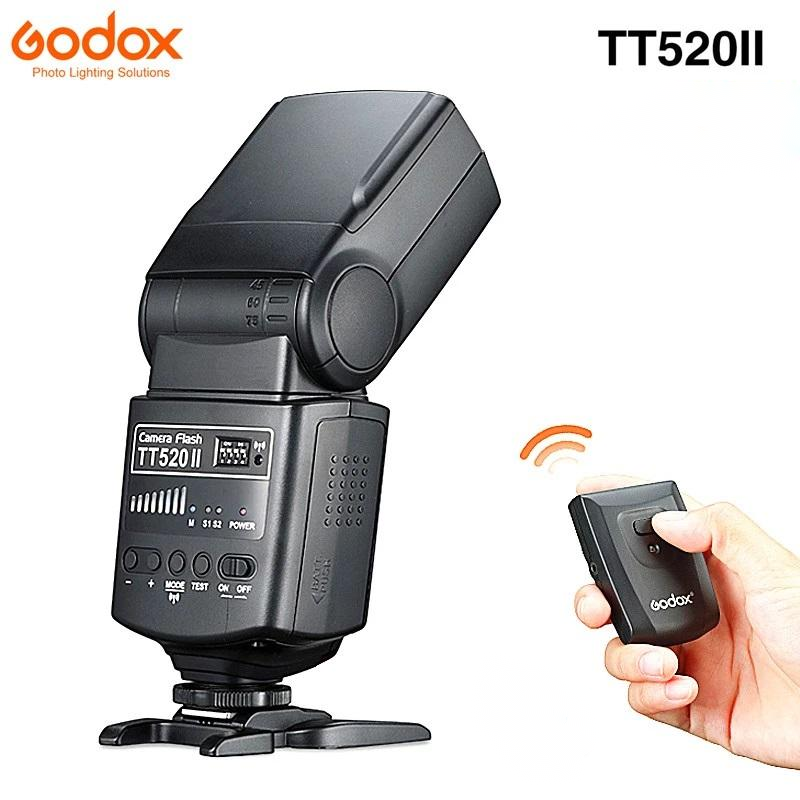Godox TT520 II Flash TT520II with Build-in 433MHz Wireless Signal + Flash Trigger for Canon Nikon Pentax Olympus DSLR Cameras