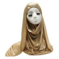1PC Women silk-like polyester shadow Paisley pattern shawl plain solid bandana foulard hijab Muslim wraps 15 Colors