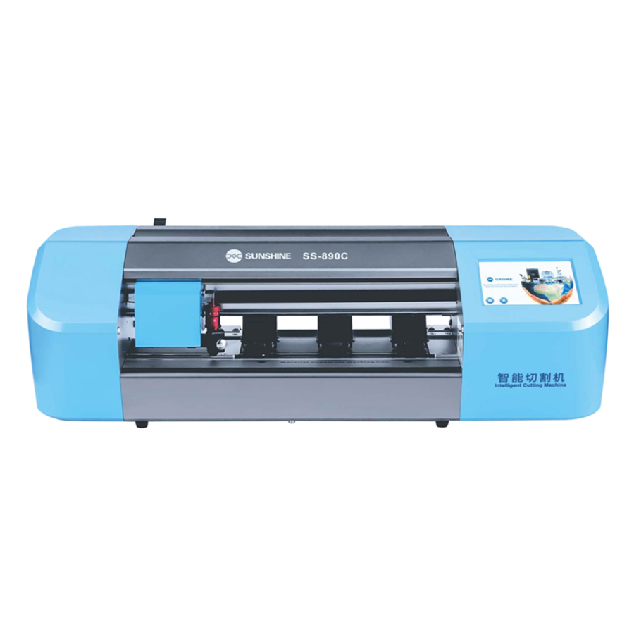 SS-890C Auto Film Cutting Machine For Mobile Phone LCD Screen Protecting Back Cover Film With Flexible Hydrogel Film