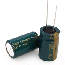 20pcs/lot high frequency low impedance 100V 470UF 16*25 20% RADIAL aluminum electrolytic capacitor 470000nf 20%