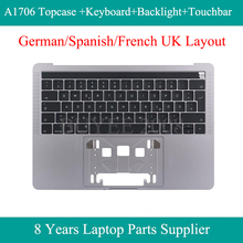 Echt Laptop A1706 Top Gevallen Voor Macbook Pro Duitse Spaans Frans Ge Sp Fr A1706 Azerty Toetsenbord Backlight Topcase Touchbar