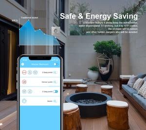 Image 3 - Livolo EU Standard New Smart Wifi Power Socket,Crystal Glass Panel, smartphone 16A Wall Power Socket, wifi app,aleax,googel home