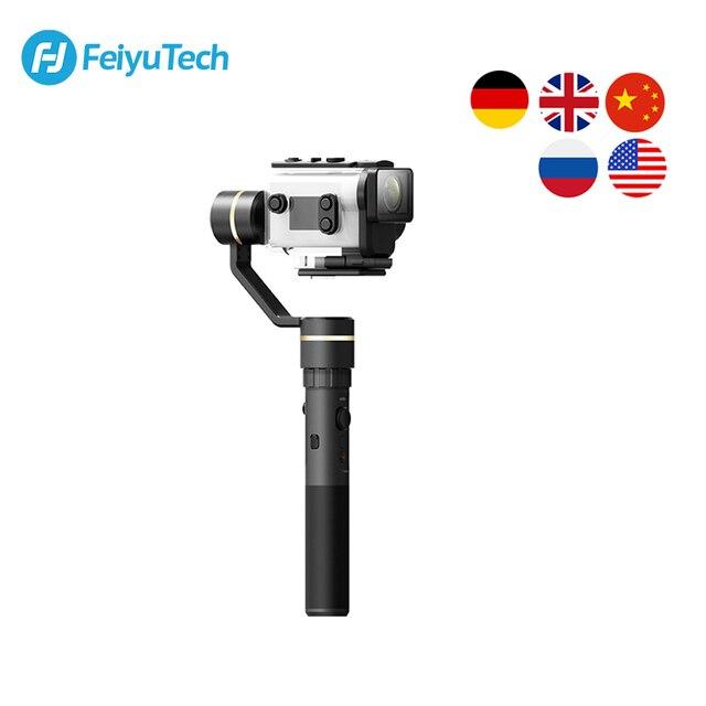 FeiyuTech G5GS כף יד Gimbal 3 ציר מצלמה מייצב עבור Sony AS50 AS50R X3000 X3000R Splash הוכחת 130g 200g מטען
