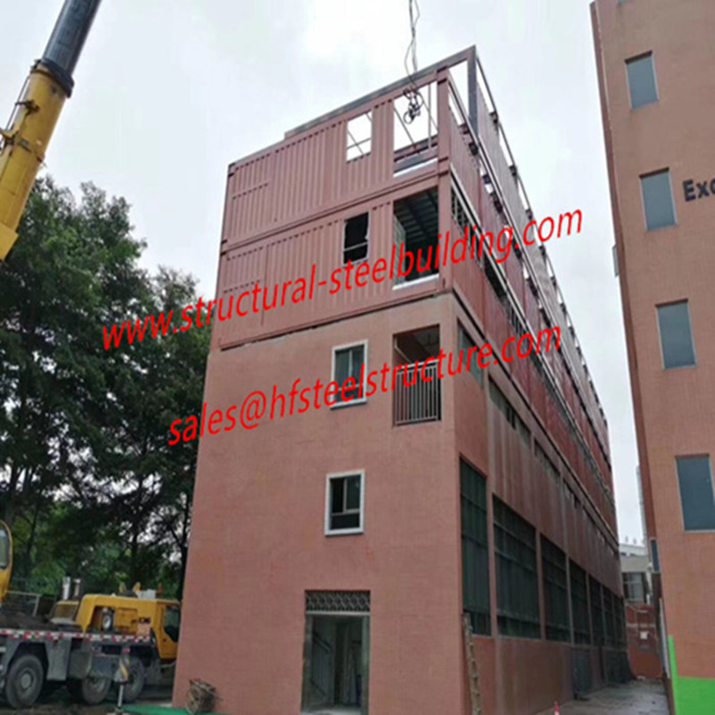 Containerized Classroom/Office Units Modular Container House Expansion Project On School Existing Buildings