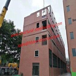 Containerized Klas/Kantoor Eenheden Modulaire Container Huis Uitbreiding Project Op School Bestaande Gebouwen