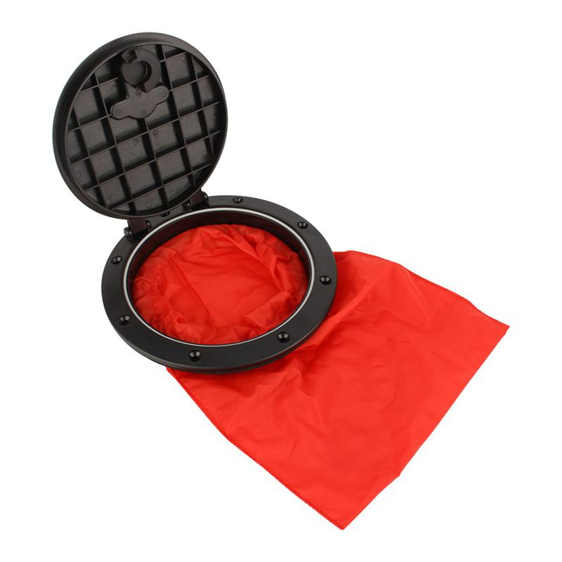New Sale 6 Inch Marine Cover Pull Out Deck Plate With Storage Bag Cover Kit For Boat Kayak Canoe Kayak Accessories image