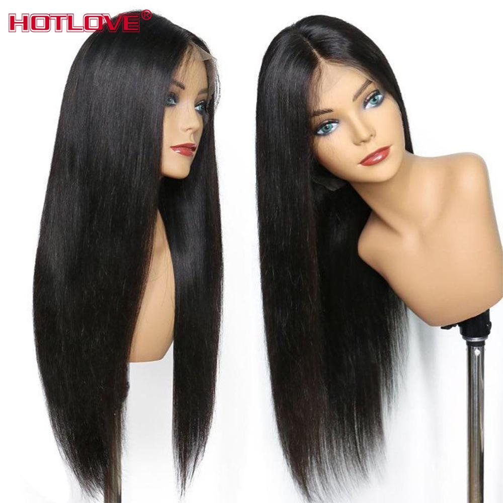 360 Lace Frontal Human Hair Wigs For Black Women Remy 150% Density Brazilian Straight Hair Lace Frontal Wigs With Baby Hair