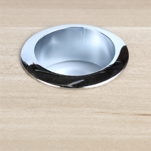 Image 5 - 60mm Alloy Table Cable Outlet Grommet Round Plug Cover for PC Desk Wire Holder Cabinet Vent Hole Decorative Furniture Hardware