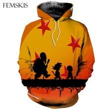 FEMSKIS Anime Dragon Ball Z Pocket Hooded Sweatshirts Goku 3D Hoodies Pullovers Men Women Long Sleeve Outerwear Hip Hop Hoodie hot sale anime dragon ball z pocket hooded sweatshirts kid goku 3d hoodies pullovers men women long sleeve outerwear hoodie