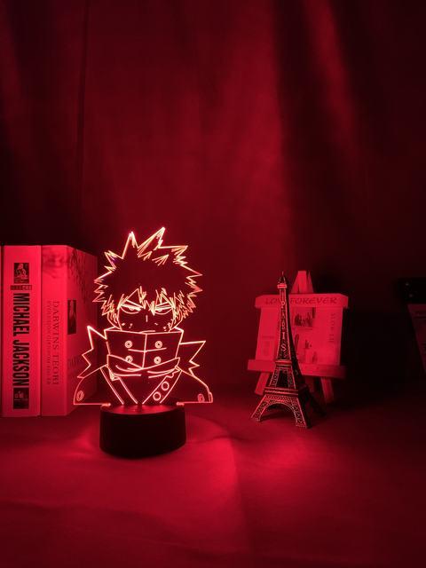 16 COLOR WITH REMOTE KATSUKI BAKUGO 3D LED LAMP