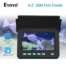 Eyoyo Portable Fish Finder 20M 1000TVL 4.3inch LCD Monitor 8pcs Leds Underwater Fishing Camera 110 Wide Angle 10000mAh Battery 20m professional fish finder underwater fishing video camera monitor 150 degree angle 4 3 inch lcd monitor with 20m cable new