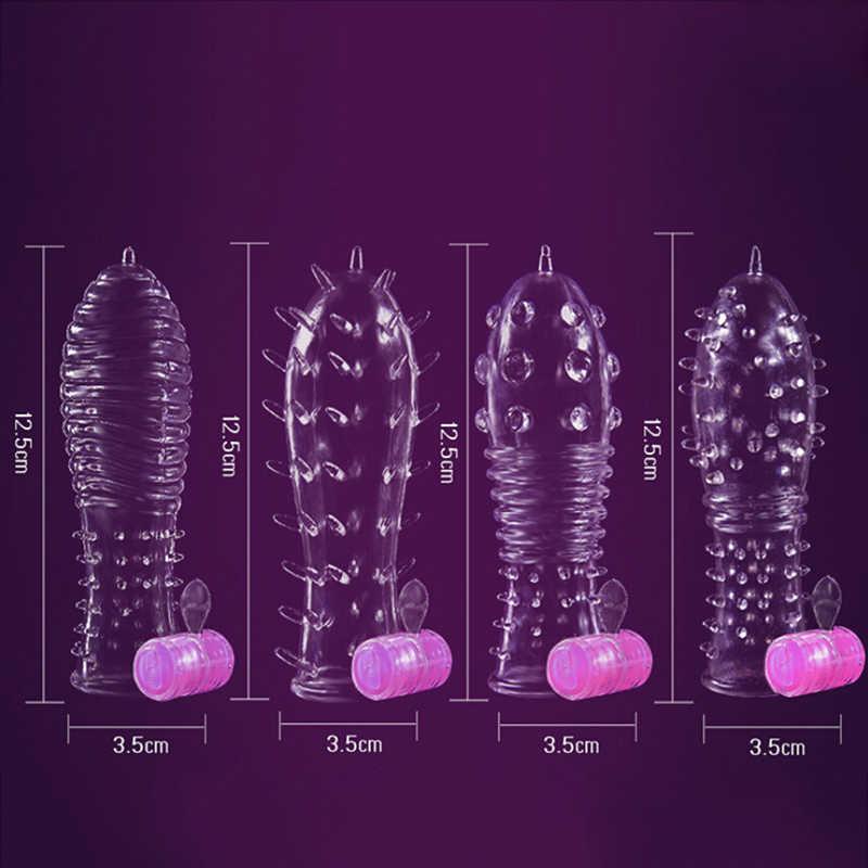 4 가지 유형 콘돔 시간 지연 크리스탈 페니스 링 남성 페니스 확장 슬리브 수탉 반지 성인 섹스 토이 Good Resilient