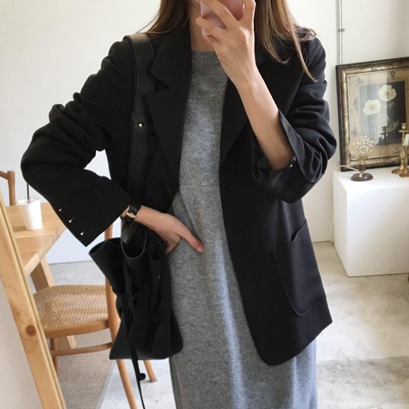 Women's blazer feminine jacket 2020 Korean version of the new spring and autumn elegant ladies suit Fashion black coat