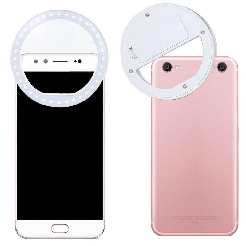 المحمولة LED Selfie حلقة مضيا صالح البيئة خافت الموقت الذاتي ضوء أداة مشبك حلقي مضيئة لأي هواتف محمولة أقراص