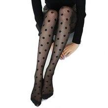 Japan Style Dot wzorzyste damskie rajstopy moda słodka dziewczyna czarne seksowne rajstopy kobiece pończochy przezroczysty jedwab rajstopy