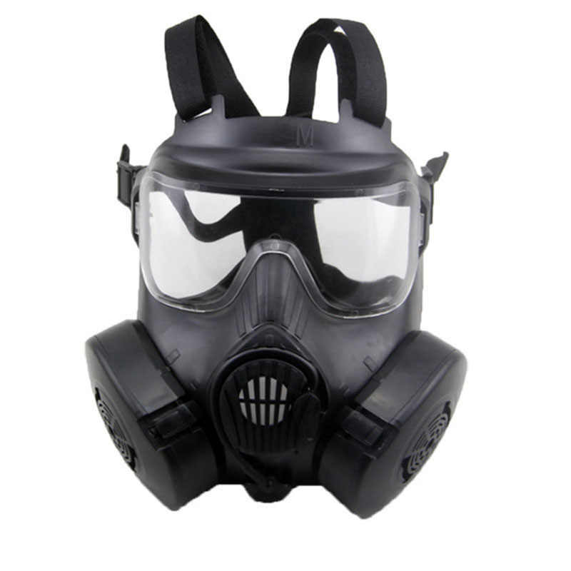 Respirator Gas Mask Military Style Skull Full Face Mask For Outdoor CS Masquerade Halloween Movie props M50 Tactical Masks