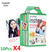 40pcs Fujifilm Instax Mini 8 9 Film for Fuji Fujifilm Instant Camera Instant mini 8 9 7s 25 50s 90 Photo Paper White Film
