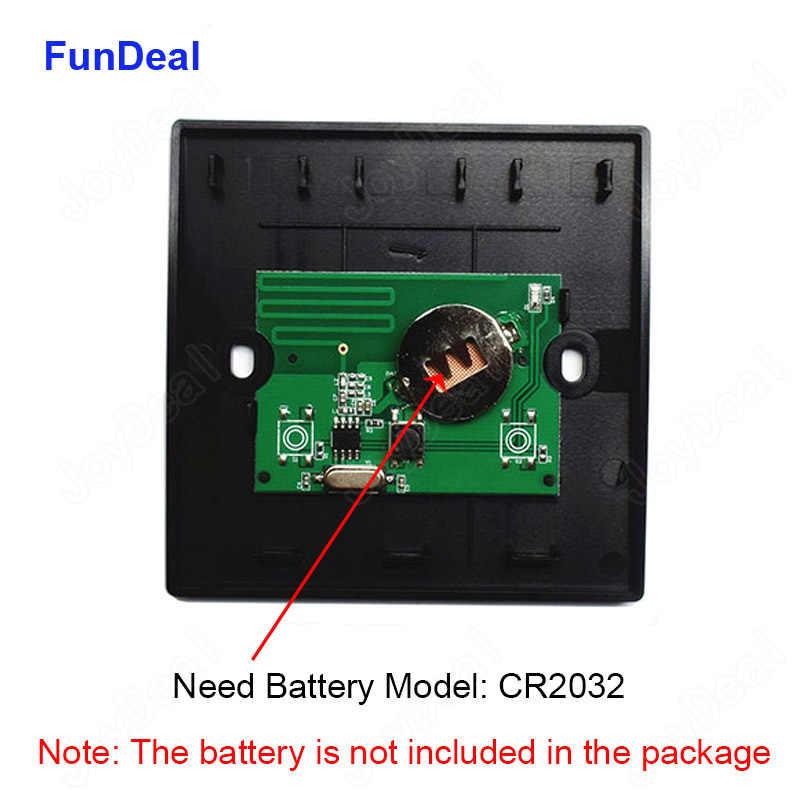 Fundeal 433 Mhz Wireless Mini Remote Control Interruttore Ricevitore Dc 3.7V 4.5V 5V 6V 7.4V 8.4V 9V 12V Ricevitore Pannello a Parete Trasmettitore