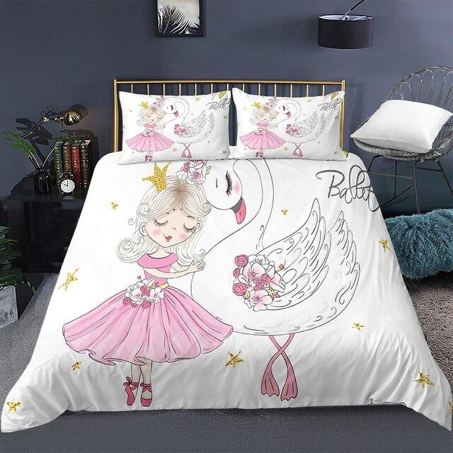 Ballerina Large Swan Bedding Set 9