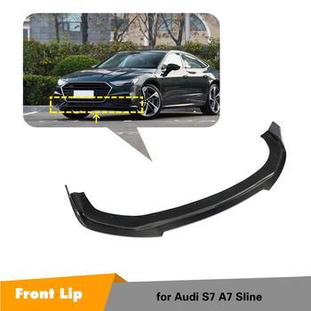 Carbon Fiber Car Front Bumper Spoiler Lip Car Front Bumper Diffuser For Audi A7 Sline S7 Sedan 2019