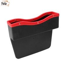 YOLU 1pes  Car Seat Side Slit Storage Box Auto Organizer Gap Fit for Wallet Phone Coins Cigarette Keys Cards