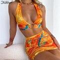 Nibber клубный дикий полый женский костюм из двух частей летний сексуальный облегающий Костюм Уличная одежда Удобная Повседневная пляжная юб...