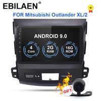EBILAEN samochodowy odtwarzacz dvd odtwarzacz multimedialny dla Mitsubishi Outlander XL 2005-2014 2din Android 9.0 magnetofon radiowy nawigacja gps