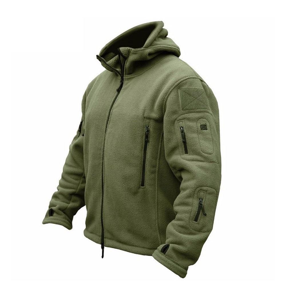 ZOGAA Military Men Fleece Tactical Jacket Outdoor Polartec Thermal Breathable Sports Hiking Polar Jacket Coat Jacket Men S-3XL