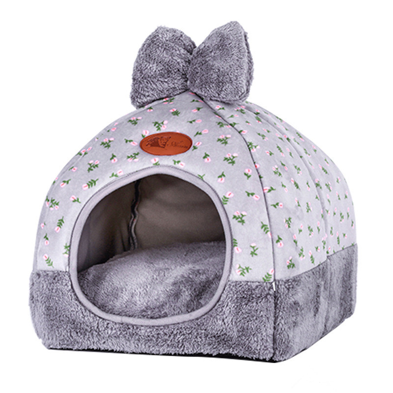 Soft Pet Beds Tent Rabbit Design Cat House With A Hole Warm Portable Removable Washable Cats Litter Kennel Nest Puppy 3