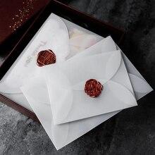 10Pcs/lot Semi-transparent White Sulfuric Acid Paper Envelopes For DIY Postcard /Card Storage, Wedding Invitation, Gift Packing