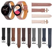 20mm 22mm moda pulseira de relógio de couro para samsung galaxy assista ativo 2 40mm 44mm substituição pulseira de pulso elegante bracele