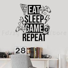 Gry wideo naklejki ścienne dekoracje sypialnia jedz gra główna Joystick ścienna naklejka na ścianę do gier nowych