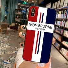 Luxury brand Thom Browne Cover Black Soft Shell Phone Case for