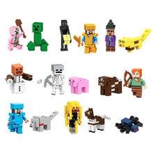 16 pçs/set montagem educacional das crianças blocos de construção minifigure anime figura série mundial crianças brinquedos