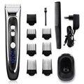Профессиональная цифровая машинка для стрижки волос с европейской вилкой  перезаряжаемая электрическая машинка для стрижки волос  Мужская...