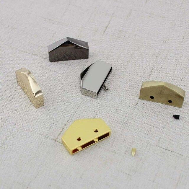 10 pièces 25mm 17mm 15mm décoration fin clips par vis, haute qualité couleur or clair matériel sangles queue fermoir accessoire