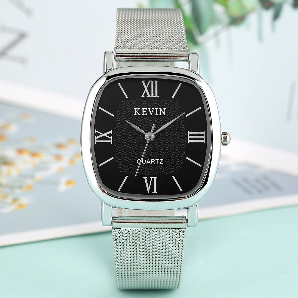 KEVIN Casual Women's Watch Stainless Steel Band Artificial Quartz Wrist Watch For Couple Elegant Watch For Girlfriend