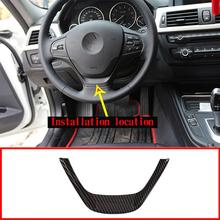 Carbon Fiber Car Steering Wheel Cover Trim For BMW 3 Series F30 316i 318d 320d 1 F20 114i 116i 118i 2013 2014+