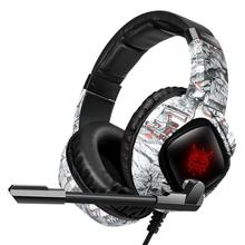 PS4 Gaming Headset with Mic casque Camo PC Stereo Headphones