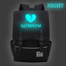 Luminous Mochila Women Canvas Backpack for Teenagers Bags XXXTentacion Bookbag Men Backpacks Female/male Rucksack School Bag