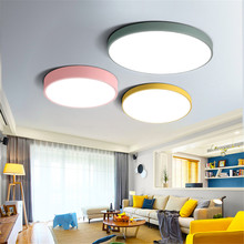 Ultrathin LED modern ceiling light round Iron Acrylic indoor lamp kitchen bedroom porch decoration lighting fixture AC85-265V