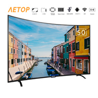 free shipping 50 inch cheap android tv hd led television smart tv 4k curved with remote control